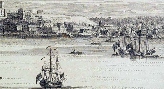 View_of_Woolwich_&_Dockyard,_S_&_N_Buck,_1739_LMA_(detail_4)