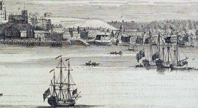 View_of_Woolwich_&_Dockyard,_S_&_N_Buck,_1739_LMA_(detail_4)