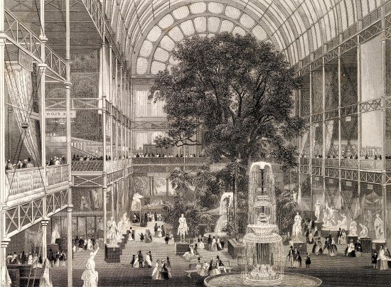 L0023919 Steel engraving: Crystal Palace, 1851 exhibition