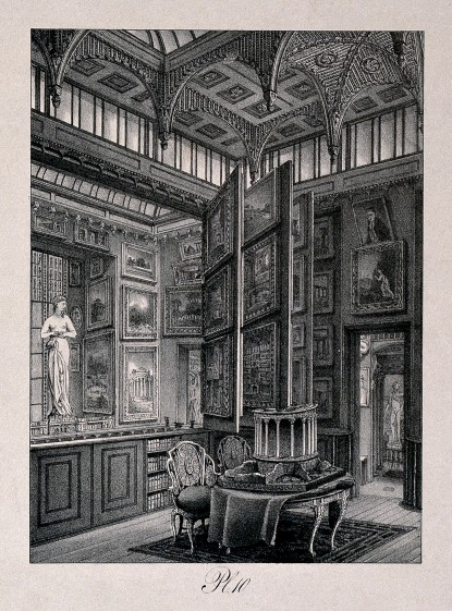 V0013536 Sir John Soane's House and Museum: the picture gallery at gr